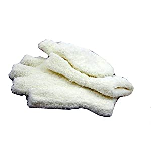 Hii-Yo Fashion Soft Warm Cashmere Cotton Gloves Flexible Open Or Closed Fingers Winter Gloves White