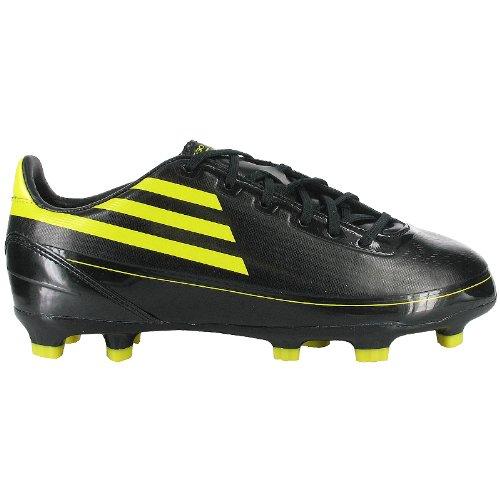 adidas - Botas de fútbol de Piel para niño negro / amarillo