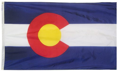 Annin Flagmakers Model 140660 Colorado State Flag 3x5 ft. Ny