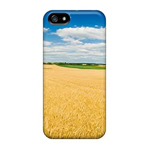 Awesome Summer Fields Flip Case With Fashion Design For Iphone 5/5s