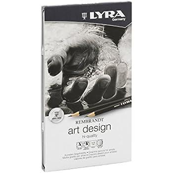 LYRA Rembrandt Art Design Drawing Pencils, Set of 12 Pencils, Assorted Degrees (1111120)