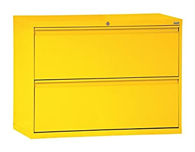 Sandusky Lee LF8F422 EY 800 Series 2 Drawer Lateral File Cabinet,  19.25u0026quot; Depth