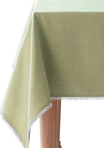 HomeCrate Luxurious French Perle Collection Solid Tablecloth 52