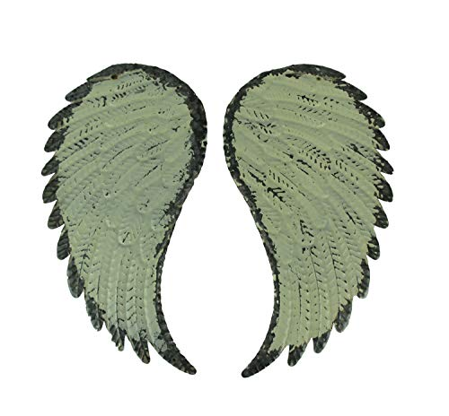 PD Home & Garden Rustic Galvanized Metal Angel Wings Wall Decor Set