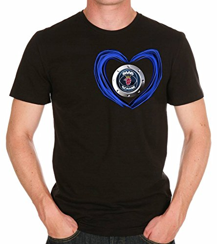 Saab Scania Love Logo AUTO FUN T-SHIRT -791