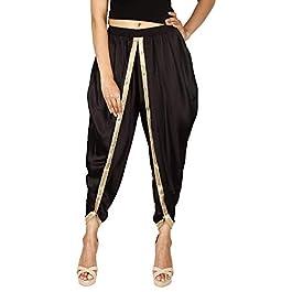 Black Color Satin Silk Dhoti Pant, Patiala Dhoti Salwar, Dhoti Trousers for Women, Girls