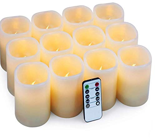 Flameless Candles LED Candles Set of 12 (D:3