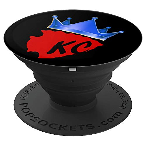 - Chiefs Kingdom Red Blue Black Phone Mount - PopSockets Grip and Stand for Phones and Tablets