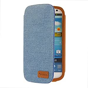 WQQ Denim Fabric Pattern Protective Pouches for Samsung Galaxy S3 I9300