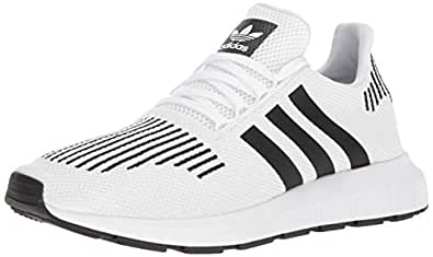 adidas Men's Swift Run Shoes,white/core black/medium grey heather,4 M US