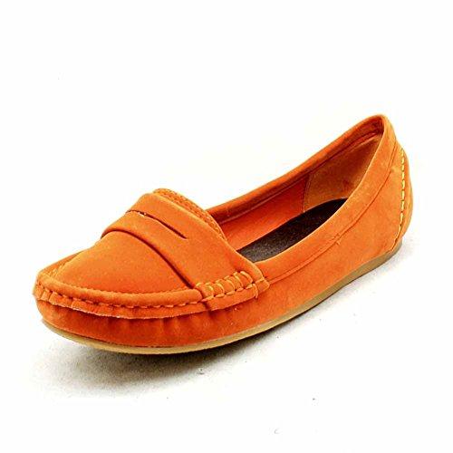 Damen flache Slipper Stil Schuhe / Pumpen Orange