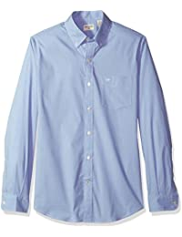Men's Comfort Stretch Long Sleeve Button Front Shirt