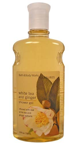 Bath & Body Works White Tea And Ginger Shower Gel 10 oz Pleasures - Ginger Collection