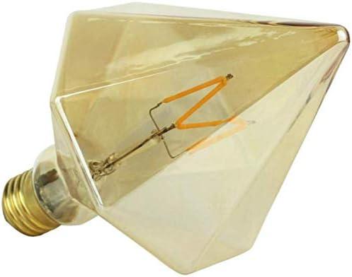 E27 4W Retro Edison Birne, LED Filament Vintage Diamant Design Dekorative Beleuchtung Glühbirne für Wohnzimmer Antike Leuchtmittel Warmweißes Licht 2700K, 360 Lumen -4 Pack