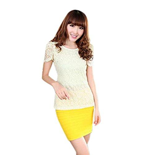 Pliss Paquet Femmes Mini Taille Haute plisse Success Femmes Mode Hanche Courte Jaune Taille Jupe Denim Package Jupe Slim Haute lasticit lastique t ttYOg