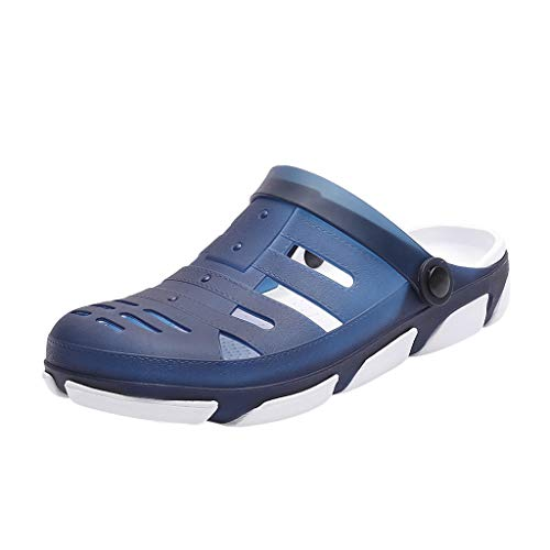 - Corriee Men's Breathable Shoes Beach Shower Slippers Outdoor Garden Clogs Anti-Slip Massage Walking Summer Sandals Blue