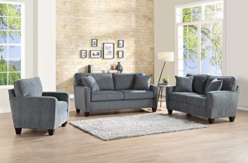Amazon.com: Esofastore Classic Look Simple Lovely 3pc Sofa ...