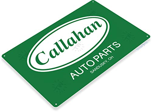 - Tinworld TIN Sign C261 Callahan Auto Parts Retro Garage Auto Shop Store Tommy Boy Movie Sign