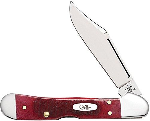 CASE XX Sawcut Red Bone Mini Copperlock Stainless Pocket Knife Knives