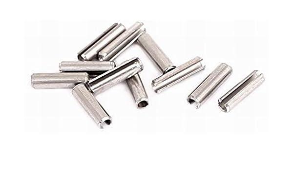 M2.5x10mm 304 Stainless Steel Split Spring Roll Dowel Pins 10Pcs