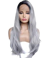 Morningsilkwig Treccia Lunga Parrucche Synthetic Hair Wigs parrucche sintetiche Cosplay Song of ice and fire cronache del ghiaccio e del fuoco delle parrucche Women Wigs (Long Grey)