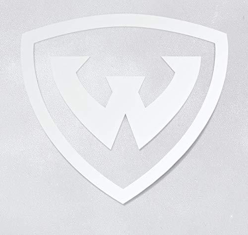 University Shield - Nudge Printing Wayne State University White Shield Car Decal Sticker from
