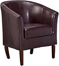 Linon Simon Club Chair, Blackberry