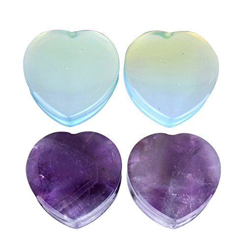 12mm heart plugs - 2