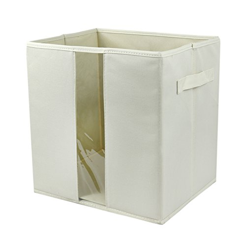 Premium Storage Box Green - The Elixir Eco Green Collapsible Fabric Premium Canvas Storage Boxes/Cubes, Beige, Extra Large,