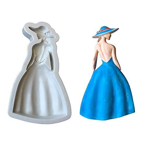 Clay Molds - Fashionable Sexy Girl Shape Fondant Decorating Silicone Mold Soap Molds - People Lion Sword Dolls Large Pottery Molds Cutters Skull Figure Food Babies Furniture Animals Pape]()