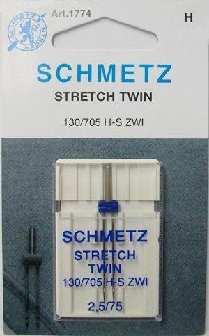 Schmetz #1774 - Stretch Twin Needle, 2.5/75 ()