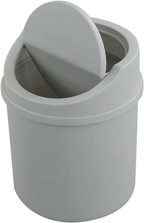 Portable Mini Small Waste Bins Desktop Garbage Table Office Trash Can W
