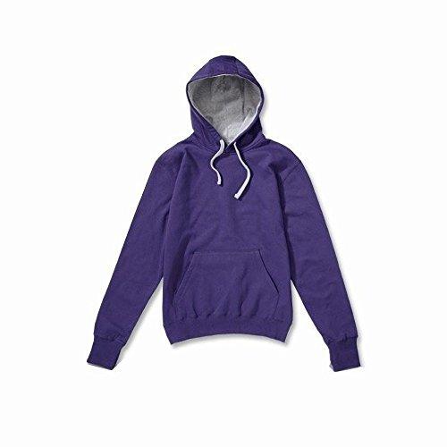 SG - Chaquetilla con capucha en contraste para mujer Morado/oxford