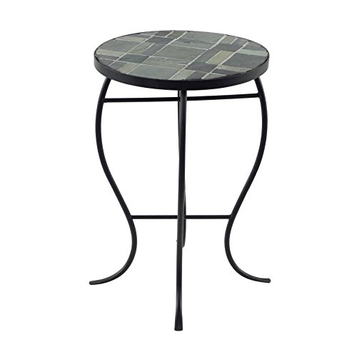Briarwood Home Decor Mosaic Tile Round-top Table with Metal Base (Briarwood Sofa)