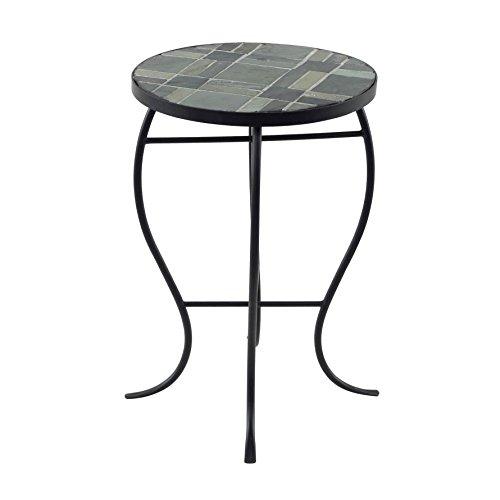 Briarwood Home Decor Mosaic Tile Round-top Table with Metal Base (Sofa Briarwood)