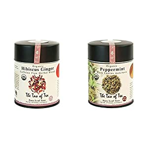 Well-Being-Matters 41WjnW5bQvL._SS300_ The Tao of Tea, Hibiscus Ginger Tea, Loose Leaf, 3.0 Ounce Tin to make 50 cups & Peppermint Herbal Tea, Loose Leaf, 2…