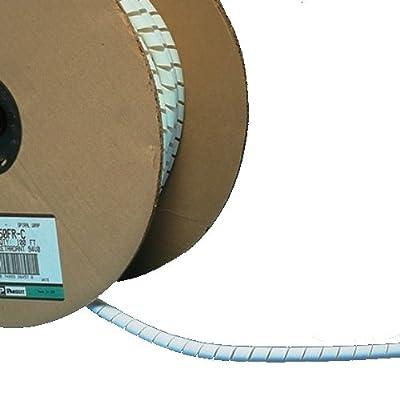 Panduit T38FR-C20Y Flame Retardant Polyethylene Spiral Wrap, Black