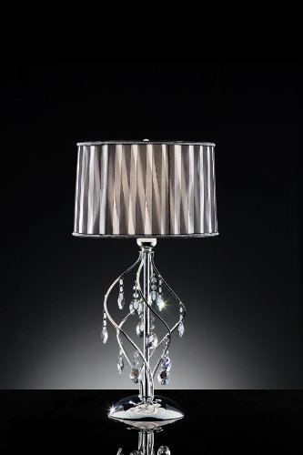 31'' H Lady Crystal Table Lamp by Asia Direct