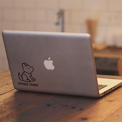 Game of Thrones House Stark Cute Dire Wolf - Macbook Air 11 13 Inch / Macbook Pro 12 13 15 17 Inch Laptop Vinyl Decal Sticker