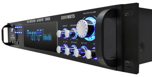 Pyle P3001AT 3000W Hybrid Pre Amplifier with AM/FM Tuner by Pyle (Image #2)
