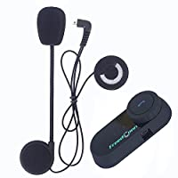 Motorcycle Communication System,FreedConn T-COMVB Helmet Bluetooth Headset Intercom for Motorbike Skiing (Pack of 2/Range-800M/2-3Riders Pairing/Black) from FreedConn