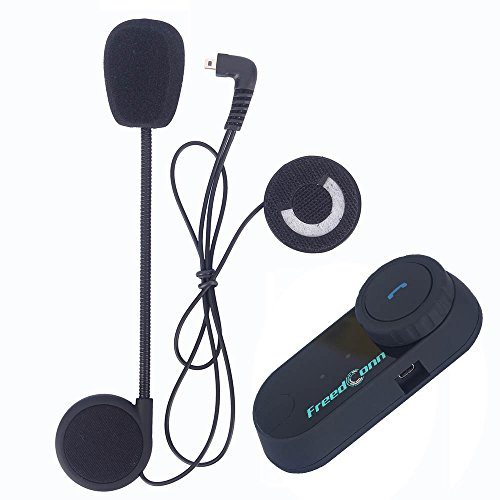 AUTOLOVER Microphone Speaker Soft Cable Headset Accessory for Motorcycle Helmet Bluetooth Interphone Intercom