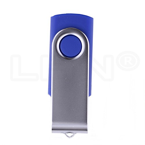 LHN® 16GB Swivel USB Flash Drive USB 2.0 Memory Stick (Blue) by LHN (Image #2)