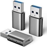 USB Type C to USB 変換アダプタ 【3個セット / USB 3.0 5Gbps高速データ転送 】 OTG対応 USB C 変換アダプタ MacBook iPad Pro Sony Xperia XZ/XZ2 Samsung...