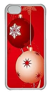 iPhone 5C Case, iPhone 5C Cases -Christmas Design Polycarbonate Hard Case Back Cover for iPhone 5C¨C Transparent