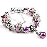 925 DIY Charm Beads Pandora Elements Bracelets For Women Crystal Jewelry