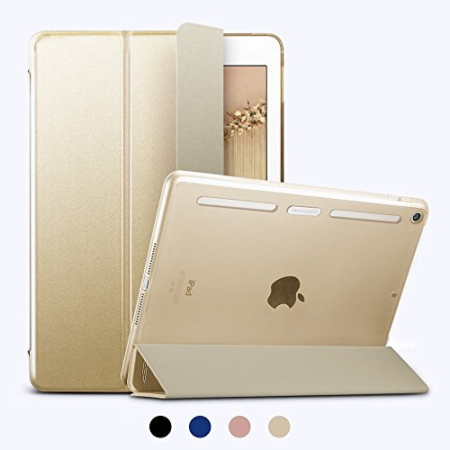Price comparison product image New iPad 9.7 2017 Case,  ESR Ultra Slim Case with Soft TPU Bumper Edge [Corner Protection] Smart Case Cover,  Auto Wake & Sleep Function for Apple iPad 9.7-inch,  Champagne Gold