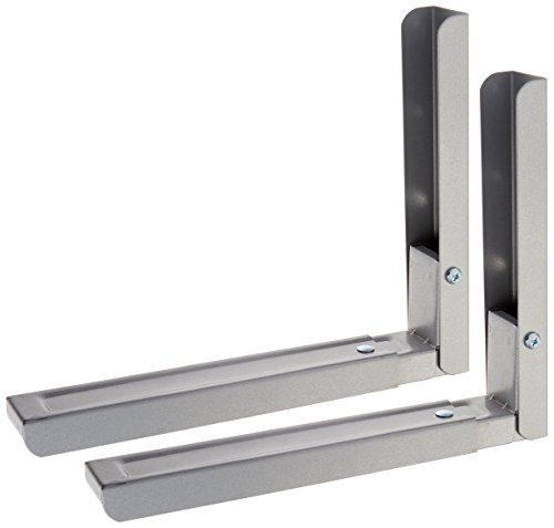 AVF EM60S-A Universal Wall-Mounted Microwave Brackets (Set of 2) - (Wall Bracket Set)