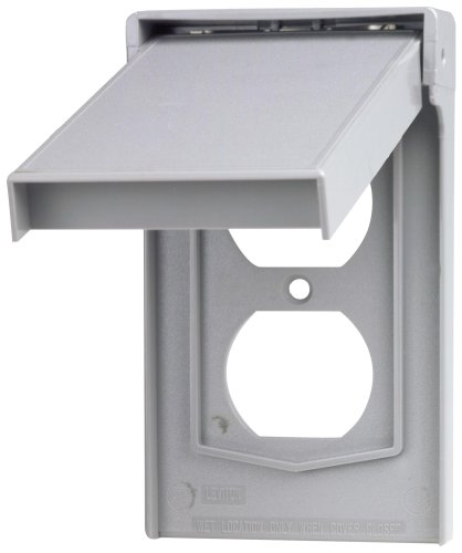 Leviton 4978 GY Wallplate Weather Resistant Thermoplastic