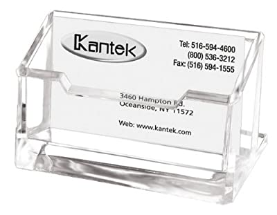 Kantek Acrylic Monitor Stand with Keyboard Storage, Holds up to 50 Pounds